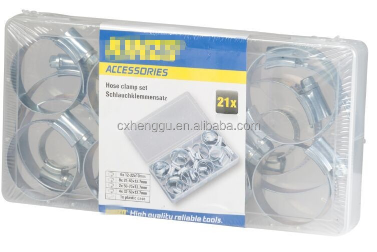 KINZO style hose clamp set Galvanized hose clip set Kinzo quality made in China