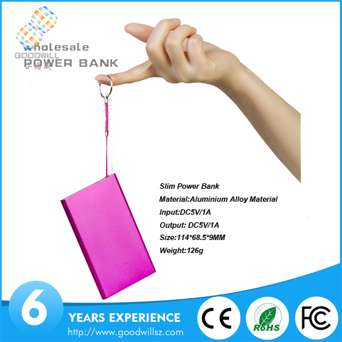 Shenzhen factory bluk buy slim colorful portable charger universal power bank 4000mah for iphone