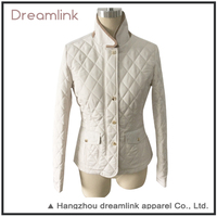 Winter Plain White Outdoor Cold Weather Women Padded Jacket For Wholesale