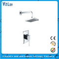 Wall mounted single lever concealed rain shower set