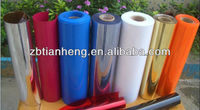 colorful 0.35-0.5mm PVC blister packing rigid film for cosmetic packing