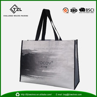 Top quality customized pp woven shopping tote bag ,reusable shopping bag