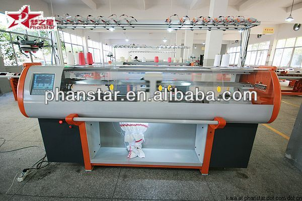 Fully computerized jacquard cap knitting machine/sweater knitting machine