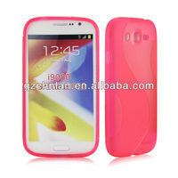 Anti-slip S line TPU waterproof case for samsung galaxy grand duos