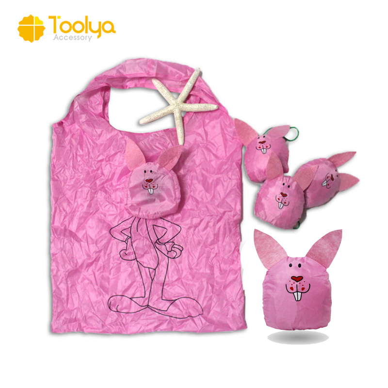 Cute Animal Recycled Foldable Polyester Tote Bag polyester shopping bag