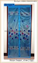 Hot sell shengli sliding french patio doors strong magnets magnetic door curtains