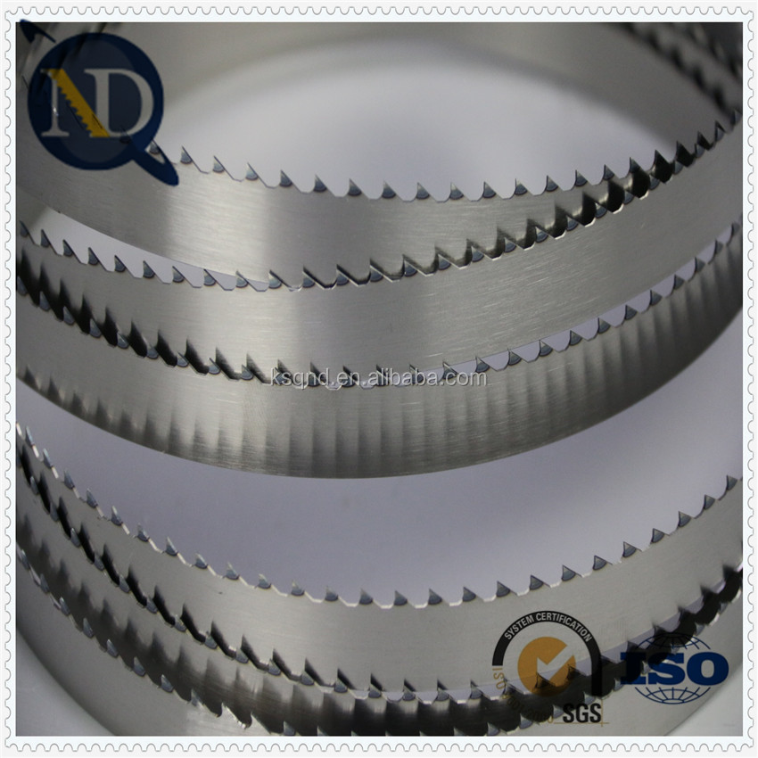 MN 65 smooth cut off band saw blades application at aluminum
