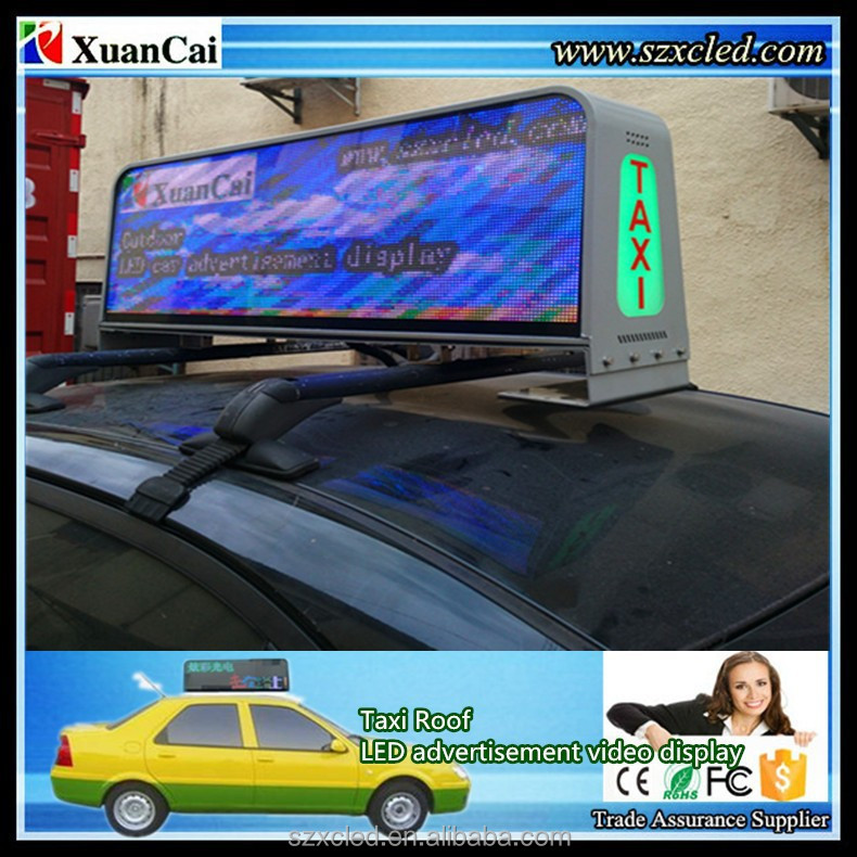 CE RoHS P5-64x192RGB (320X960mm) Video LED taxi Top/Roof advertising LED display sign/module/screen/panel