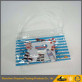 Customer print logo clear stand up pvc makeup bag reusable pvc frosted tote cosmetic bag