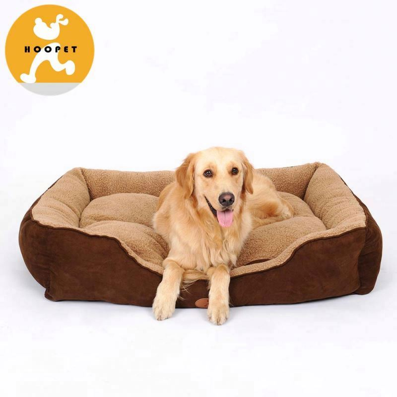 Brown comfy soft bed for large dog pet product