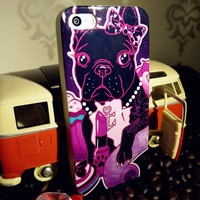 Russian Market Top Selling Retro Bling Lip Cute Dog Cellphone Case For Iphone 5S
