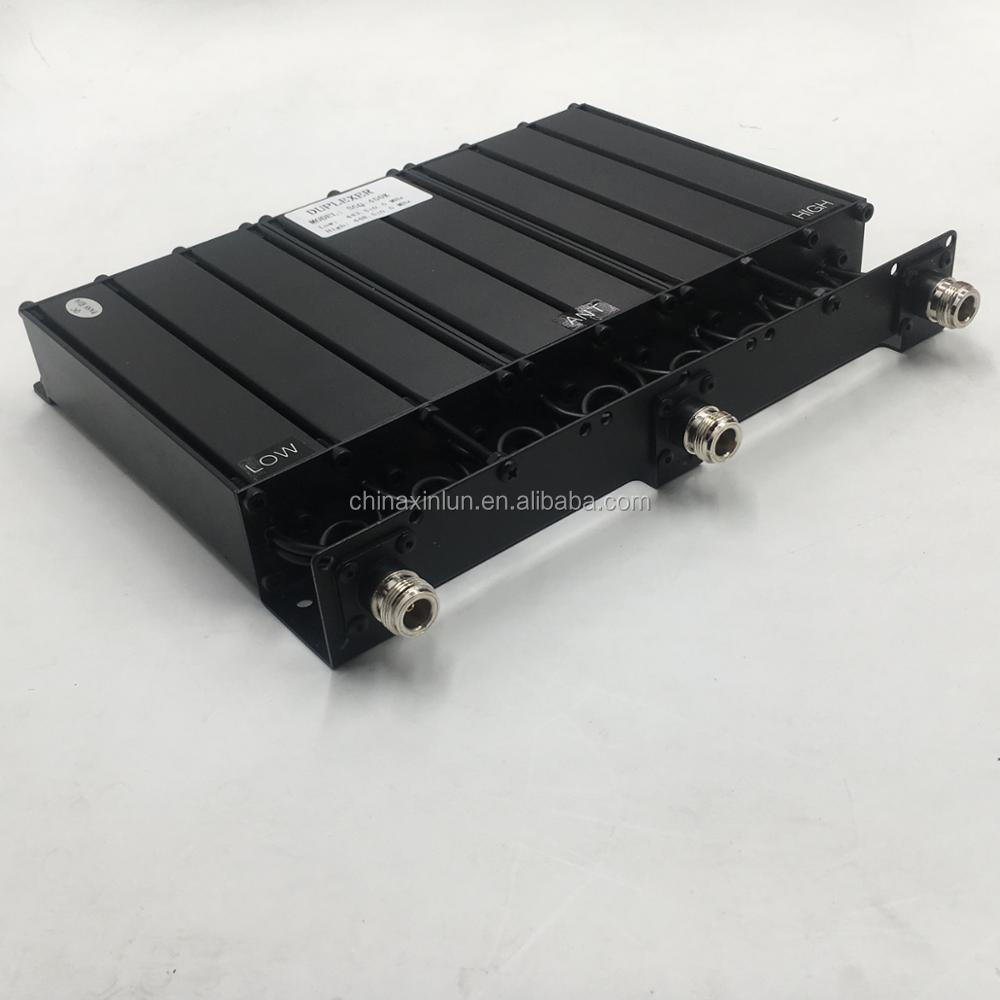 High Power 100W Bandpass/Bandreject VHF UHF Duplexer/Filter for two way radio repeater