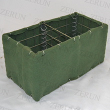 ZeRun Hesco Barrier Wholesale|Heavily galvanized hesco defensive barrier for military bastion covered with geotextile cloth