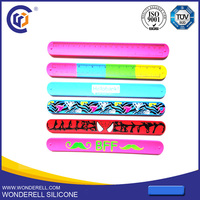 customized cheap slap bracelet with name engraved cheap engraved bracelets for her promotoin gift