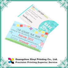 Good quality custom design colorful discount coupon or ticker printing