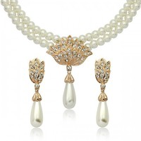 SMT1705562 wholesale beautiful pearl jewelry set for bride fashion bridal Jewelry set
