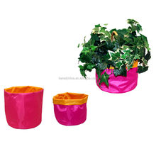 2014 fabric decorative promotional cheap plastic flower pot cover