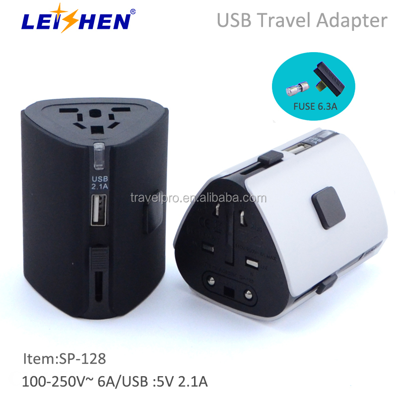 High safety level USB Charger Plug with US UK EU Travel Adapter for iphone ipad samsung and more