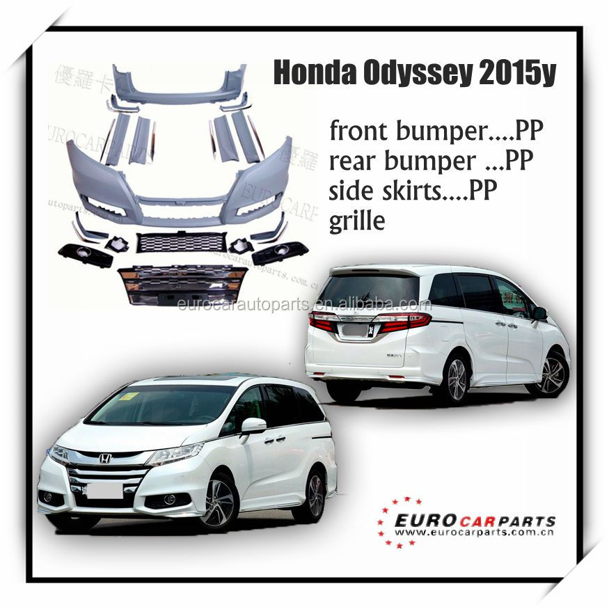NEW Arrival !!! Cool Hon-da odyssey body kit fit for HON ODYSSEY 2015 style PP material