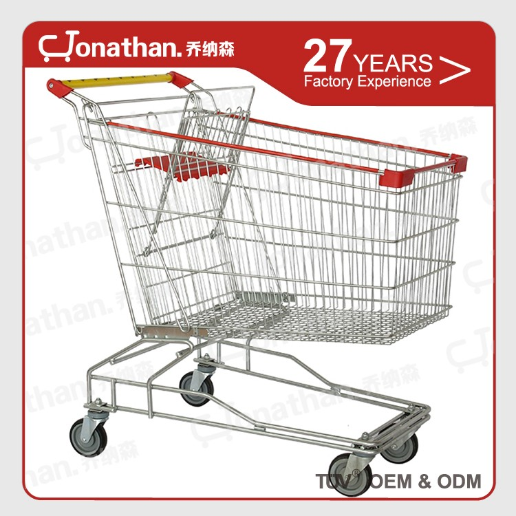 150L cheap customized stainless steel shopping cart