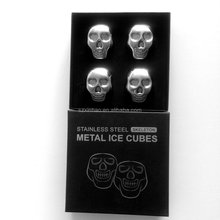 Hot Selling Stainless Steel Skull Ice Cube/ Whiskey Stones/ Wine Rocks