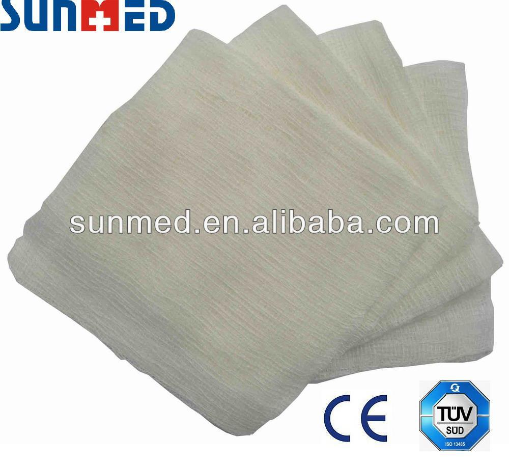 Sterile cotton gauze compress