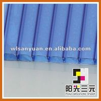 blue red 10 years guarantee clear roofing panels;polycarbonate sheet