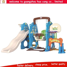 Promotion outdoor plastic slide, plastic slide and swing playground