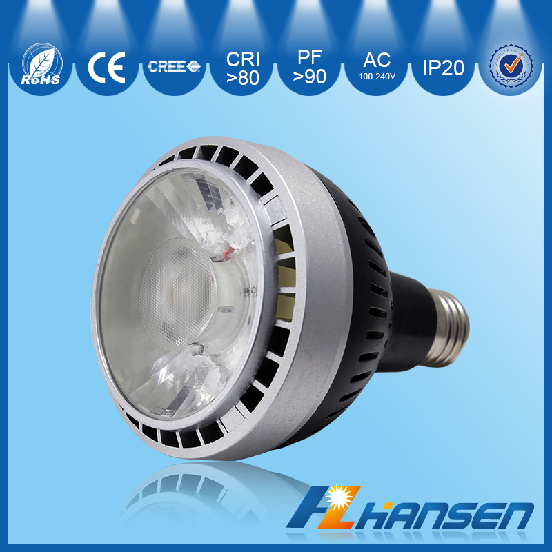 15 and 40 degree beam angle ra>80 dimmable led C REE COB spotlight E26/E27