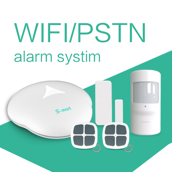 Professional home alarm system producer, WiFi PSTN/GSM alarm system & Android+IOS APP control security home alarm system