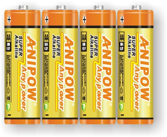 LR6 AM3 Size AA 1.5V Alkaline Battery shrink/blister package