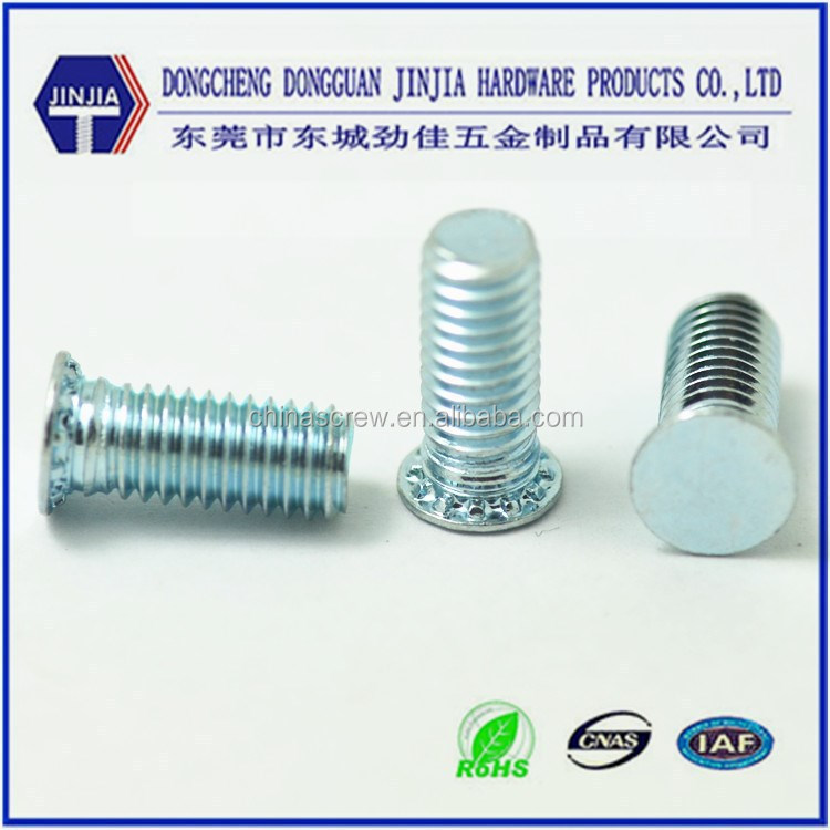 ROHS blue zinc plated carbon steel standard rivet screws