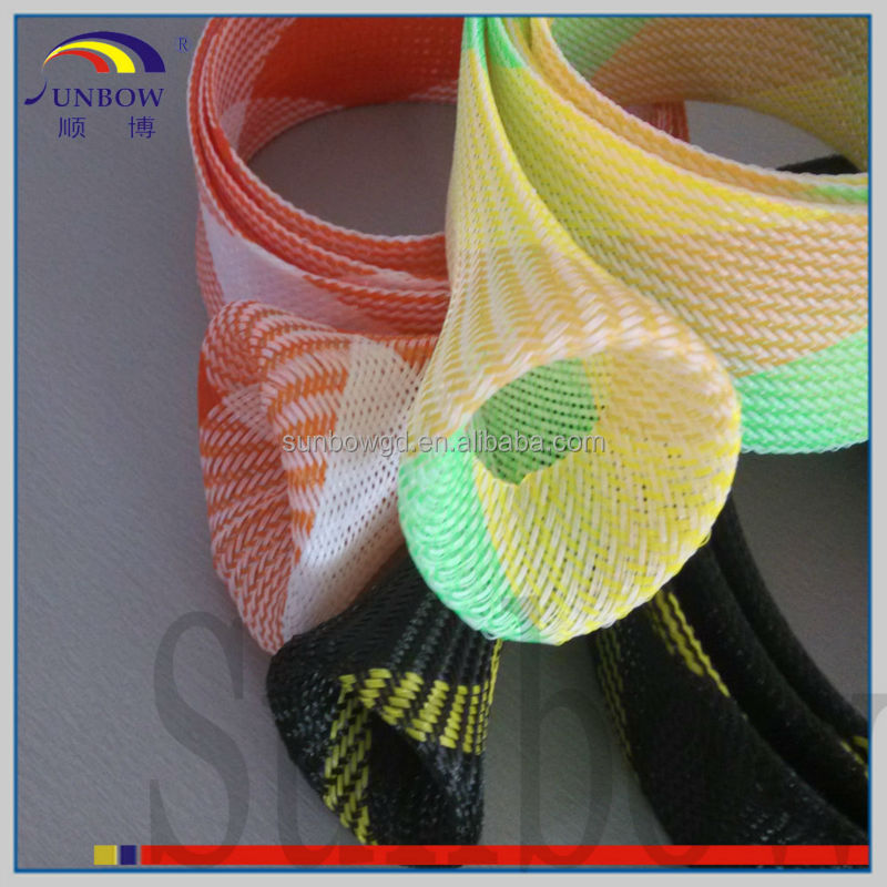 with iso 9001-2008 standard 4mm 6mm 8mm 16mm tight braided pet expandable sleeving mix color