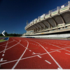 China factory price stadium athletic running rubber track synthetic running track material