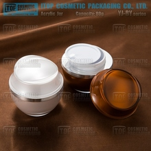 Acrylic plastic packaging containers YJ-BY 80g custom body butter jars hair gel containers skin care cream mason jar