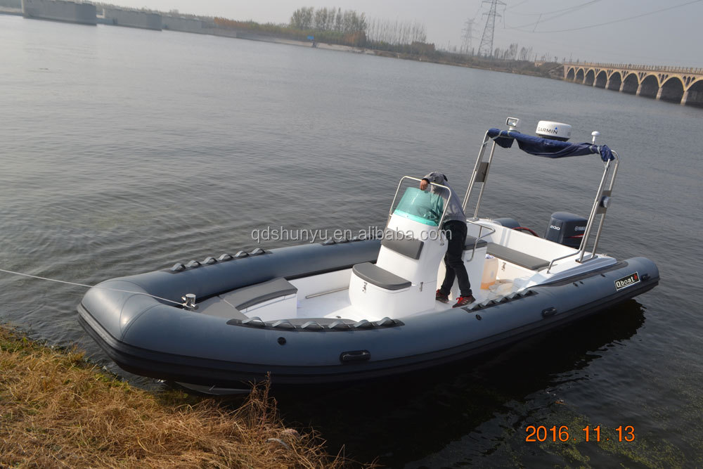 CE 14persons Ocean family RIB760 Rigid hull fiberglass Inflatable Boat rescue for government