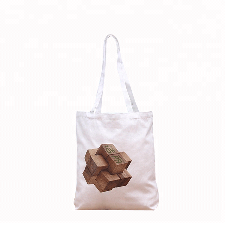 Promotional white color cotton tote bag, Customized Wholesale Standard Size cotton bag