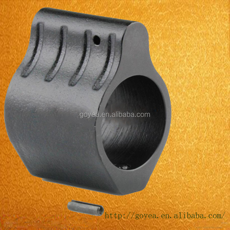 "Tactical 1 Inch Length Steel AR 0.75"" Low Profile Micro Gas Block Barrel Mount STEEL 223 5.56 300 for Free Float Rail"
