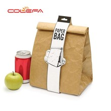 Factory wholesale fashion brown aluminum foil tyvek cooler bag