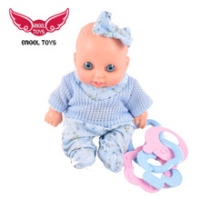 educational small plastic children fun play bell toy silicone doll for children with low price