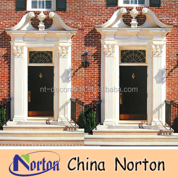 custom home decorative white marble door jamb NTMF-D072