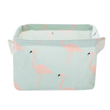 Decorative Cotton Linen Fabric with Handle Sundry Cloth Cosmetic Storage Basket Box Case Organizer