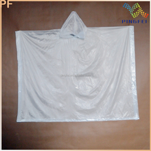 high quality colored vinyl PVC rain poncho for adult