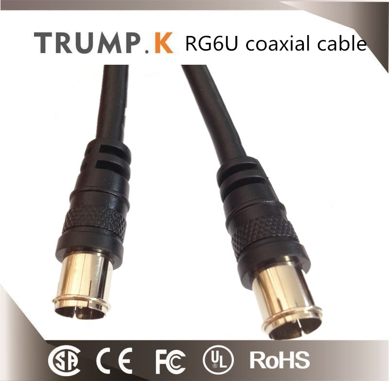 Coaxial Cable RG6 with 1.3mm soft steel messenger cable