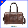 High Quality Elegant Dark Brown Genuine Leather Travel Bags, Luxury Leather Travel Duffle Bag