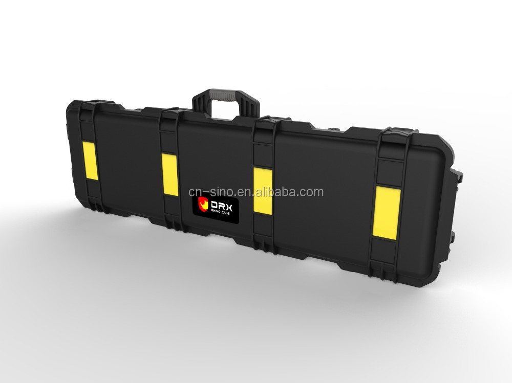 newest product Hard PP customized foam long plastic case for gun and rifle