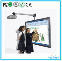 Portable finger touch interactive whiteboard electronic whiteboard with stand for kids