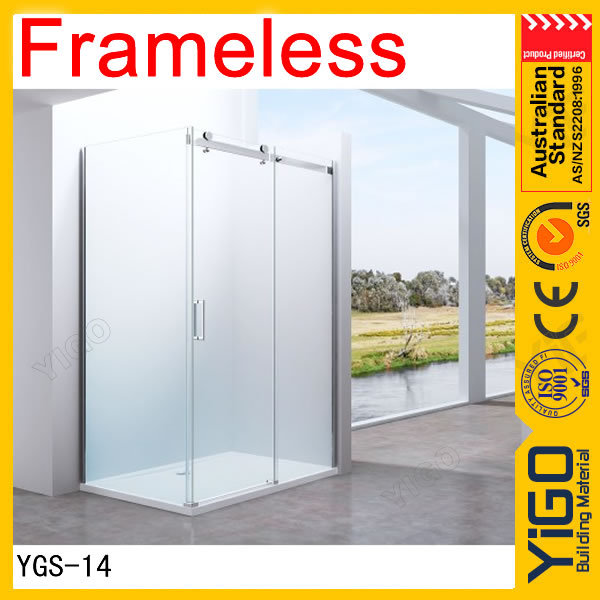 New design bubble glass shower door