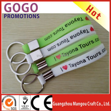 custom cheap debossed silicone keychain, key holder, key fob for promotion