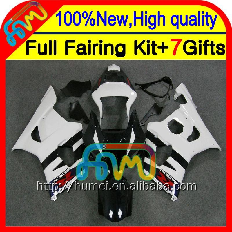 Body K3 For SUZUKI GSX R1000 03 04 Blue white GSX-R1000 03-04 8#7120 GSXR 1000 2003 2004 GSXR-1000 Blue GSXR1000 K3 Fairing